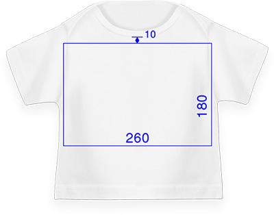 Esquema de área de impresión para camisetas de chico