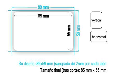 Esquema de impresión tarjeta bordes redondos