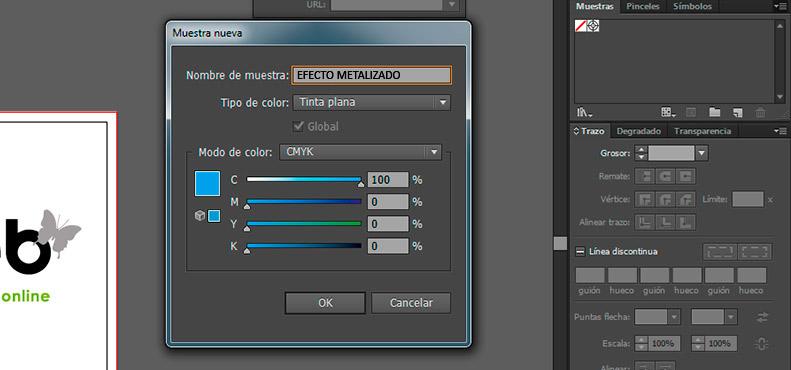 Instrucciones para crear impresiones con efecto metalizado - paso 2