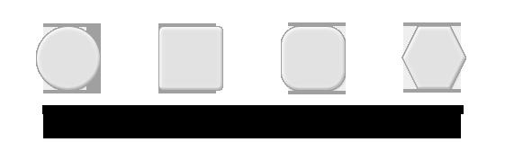 Los posavasos de Copiweb pueden fabricarse con forma redonda, cuadrada, cuadrada con esquinas redondeadas o hexagonal