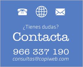 Contacte con Copiweb